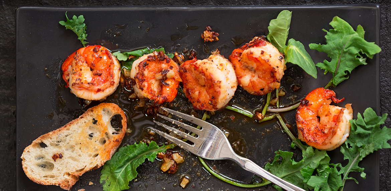 Sauté Shrimp (Flambe)
