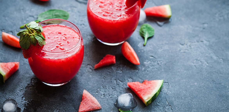 Watermelon Peach Smoothie