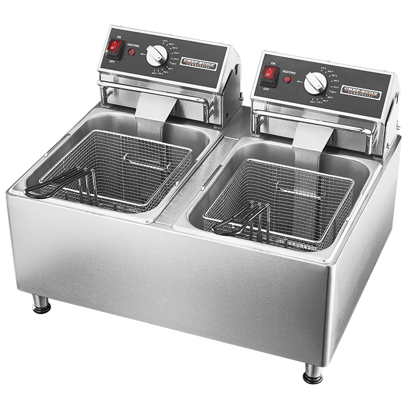 CHEF-BUILT® 15 lb Double Deep Fryer CF-30   Chef-Built